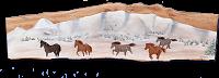 Poya classique chevaux l'hiver
